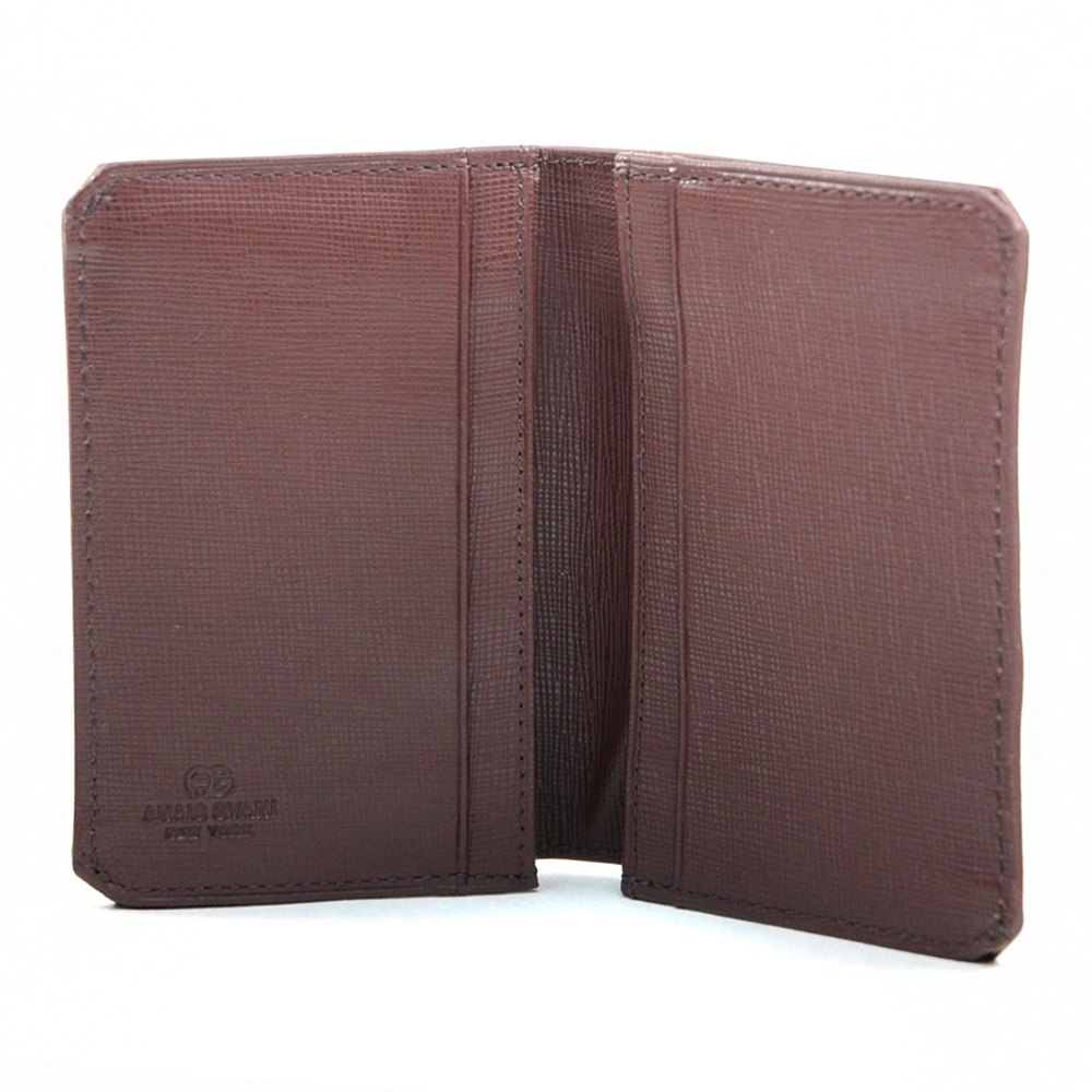 Anais Gvani® Men's Genuine Fine Grain Leather Wallet with Cut Corners