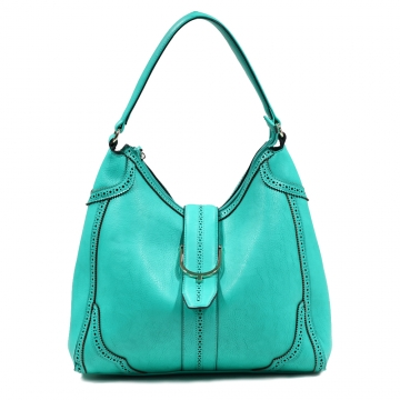 Emperia Women's Classic Fashion Hobo Bag with Cut Out Design - Light Green