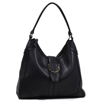 Emperia Women's Classic Fashion Hobo Bag with Cut Out Design - Black