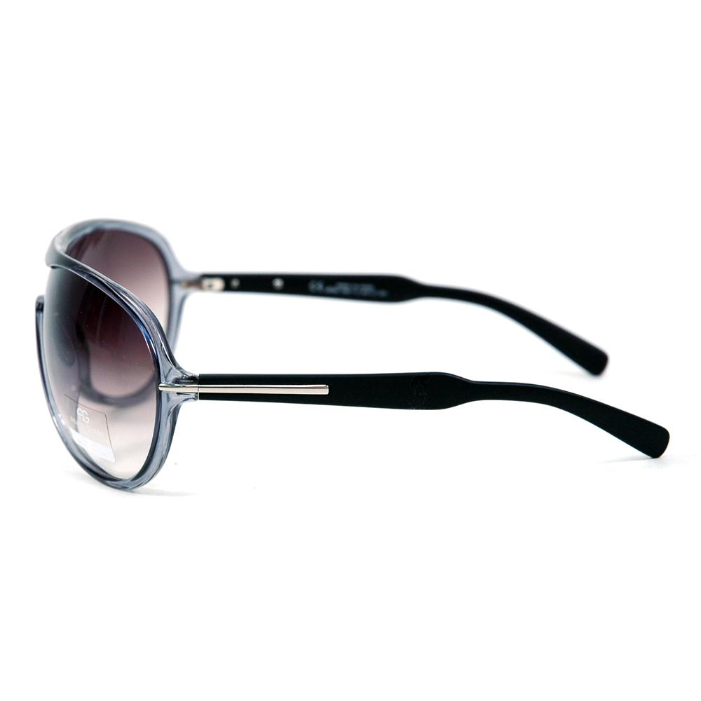 Anais Gvani ® Women's Thick Frame Aviator Sunglasses with Stripe Accent