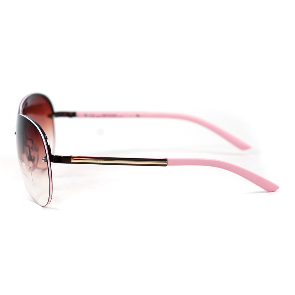 ® Classic Chic Rimless Sunglasses w/ Metallic Line Accent