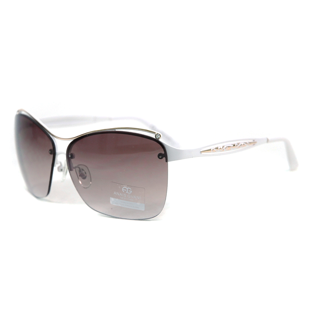 Women's Fashion Sunglasses w/ Hint of Rhinestones & Peek-Thru Sides
