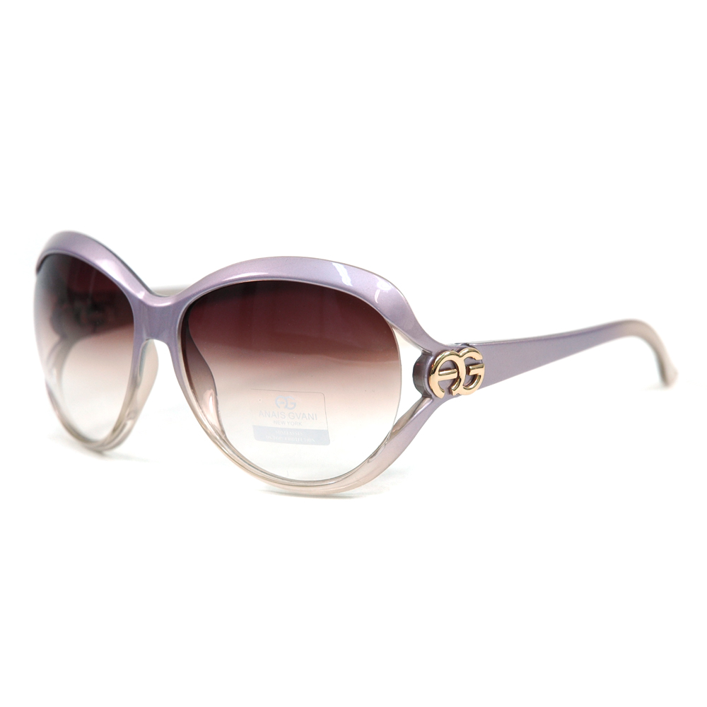 Anais Gvani ® Chic Open Temple Fashion Sunglasses with Logo Accent