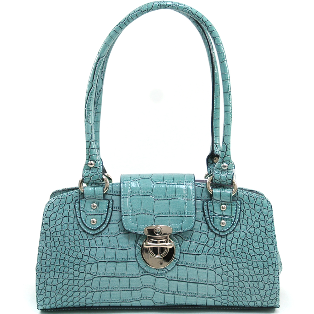 Anais Gvani® Riverside Park Croco Convex Top Shoulder Bag