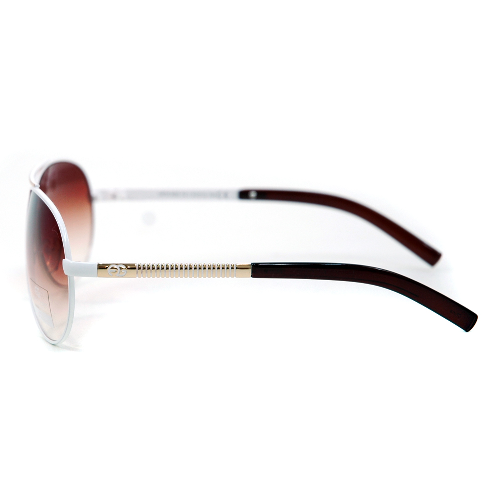 Women's Classic Aviator Sunglasses w/ Logo Accent - /   Accent