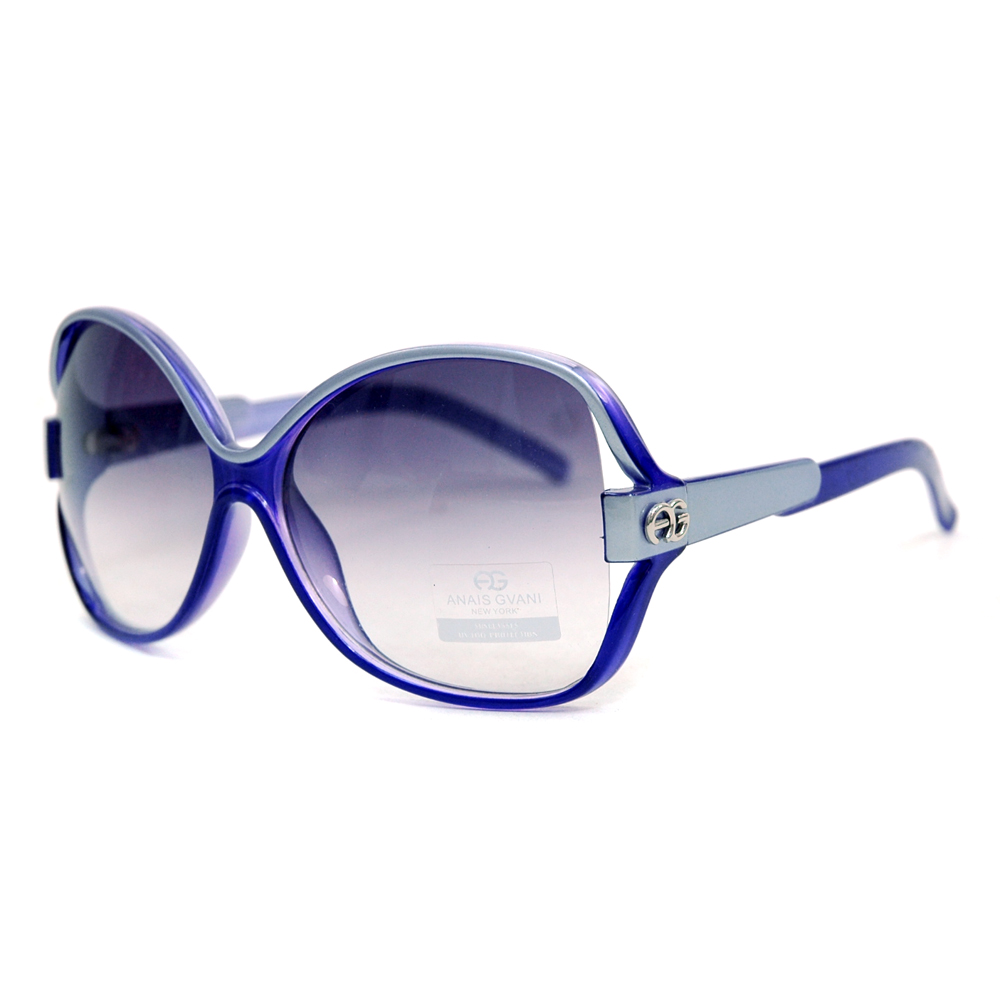 Women's Two-tone Chic Open Temple Fashion Sunglasses - Purple/Grey