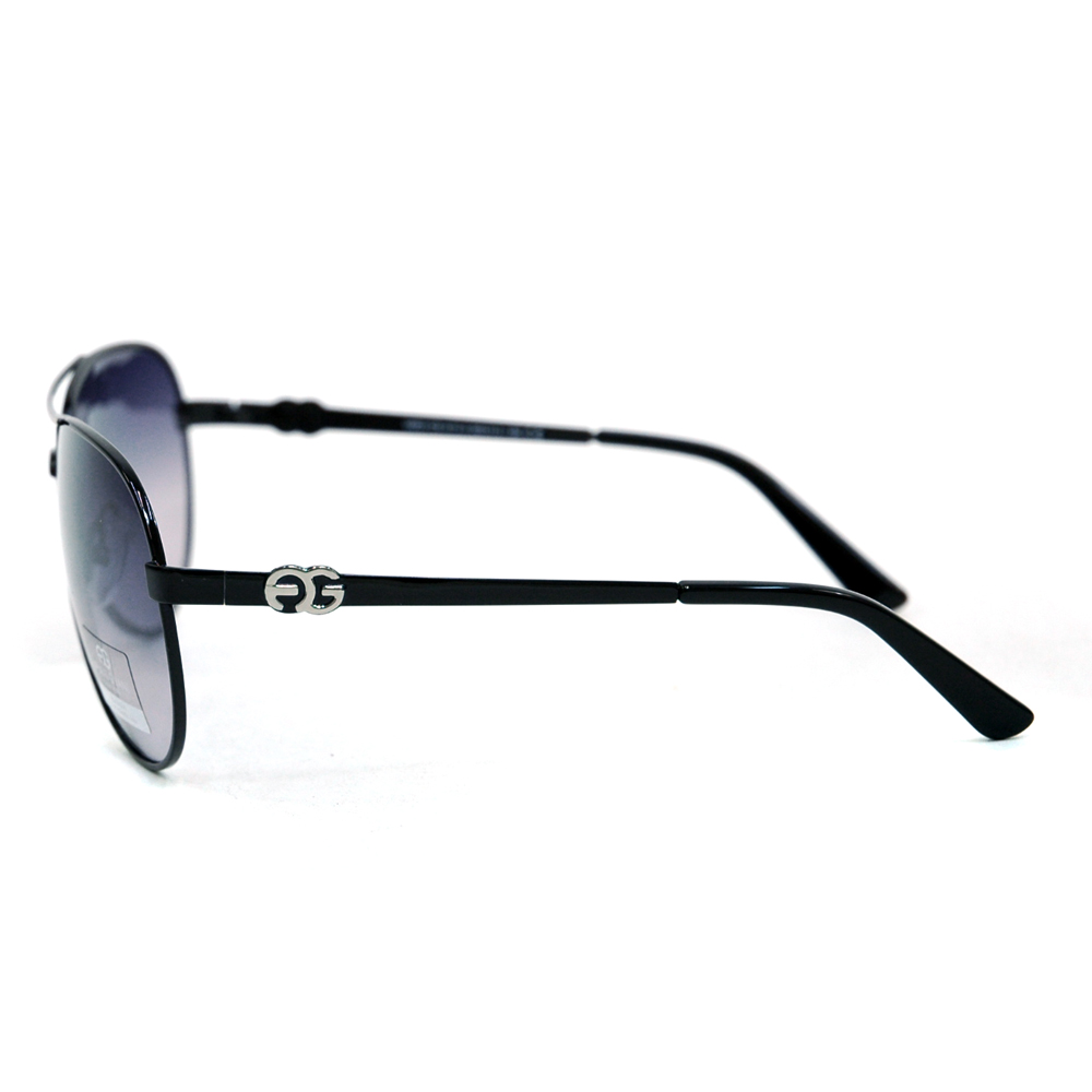 Women's Classic Aviator Sunglasses w/ Logo Accent on Side