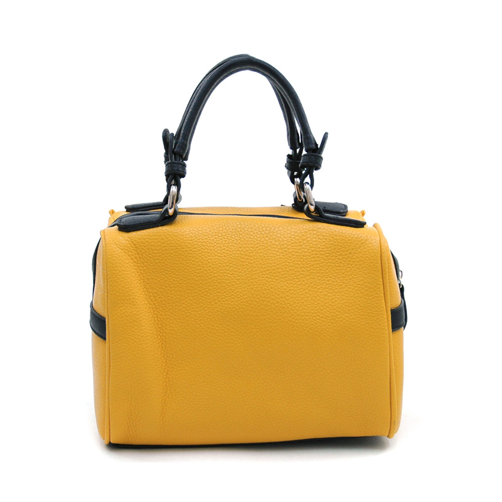 Women's Mini Fashion Satchel with Bonus Strap for Crossbody Wear - Mustard