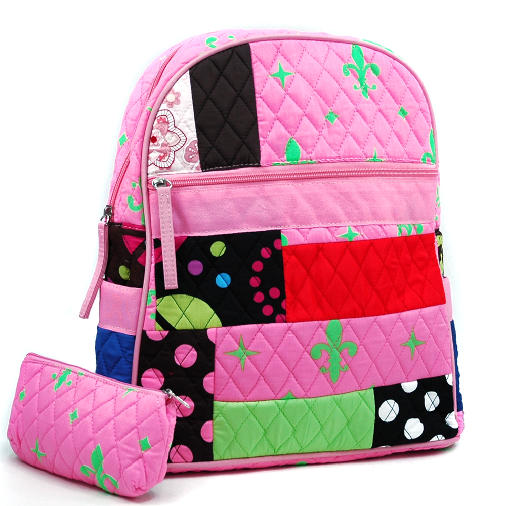 Fashlets Generic Quilted Patchwork Convertible Backpack