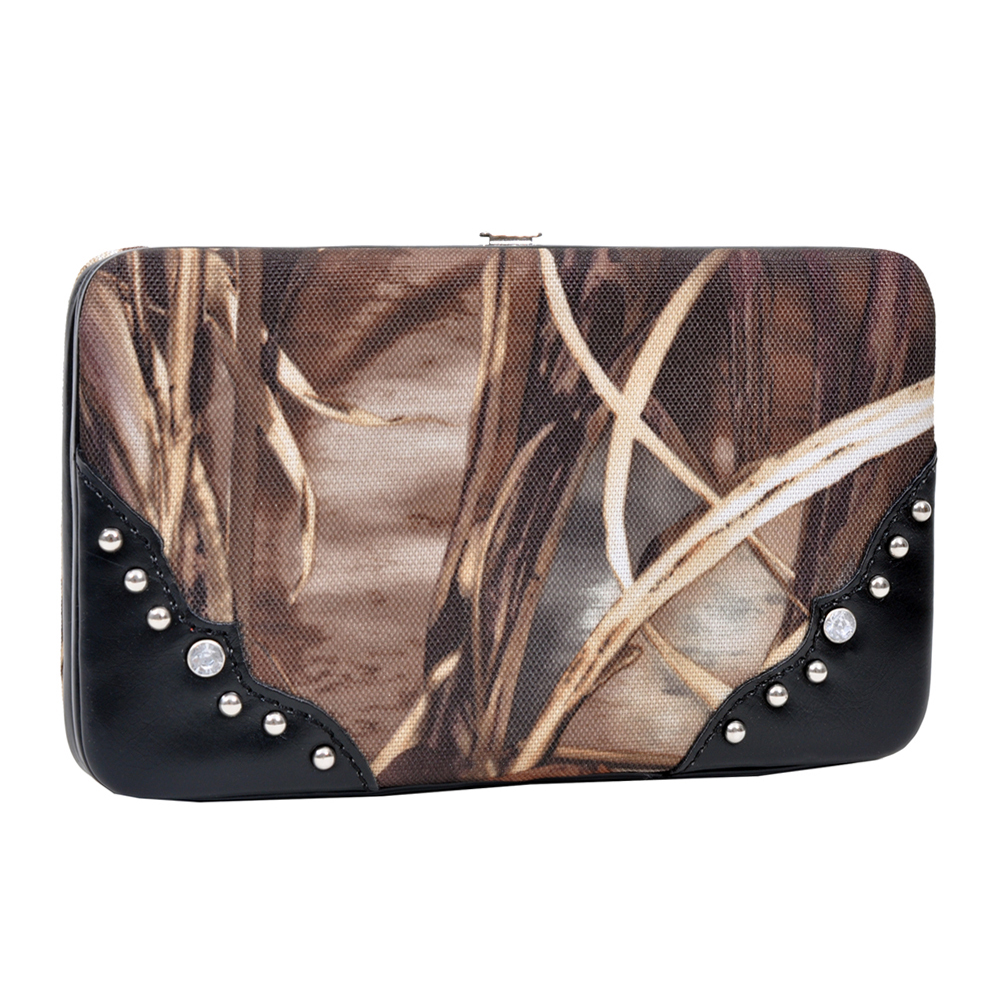 Realtree® Max-4 Camo Leatherette Trim Folded Wallet