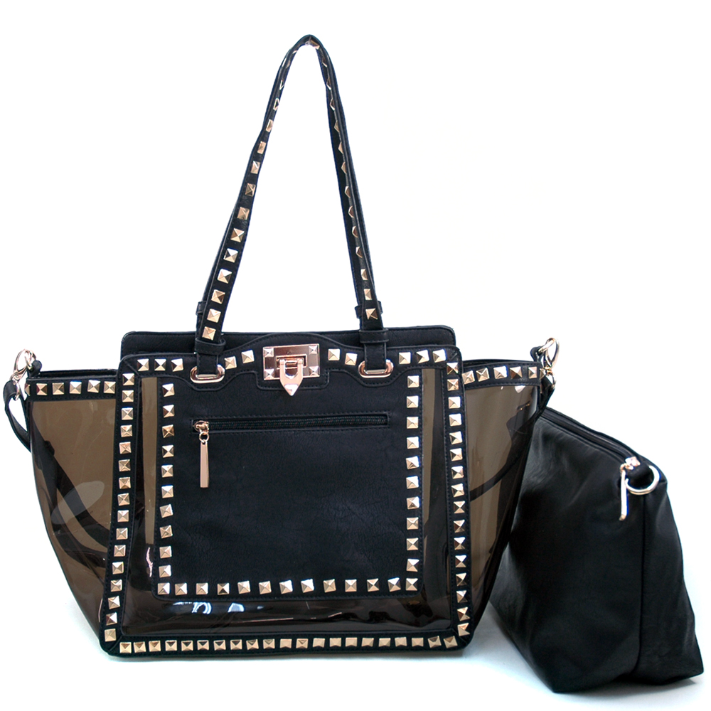 Louis Cardy® Pyramid Studded 2-in-1 Tote