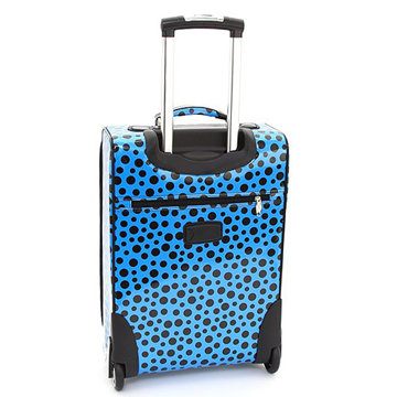 Women's Polka Dot 2-Piece Luggage Set w/ Wheels & Extendable Handle - Turquoise
