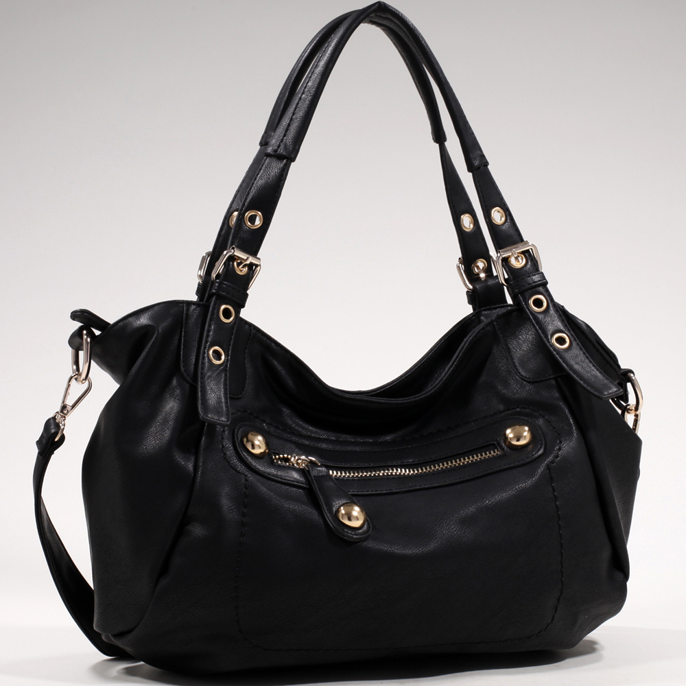 Women's Chic Fashion Shoulder Bag with Chunky Gold Studs