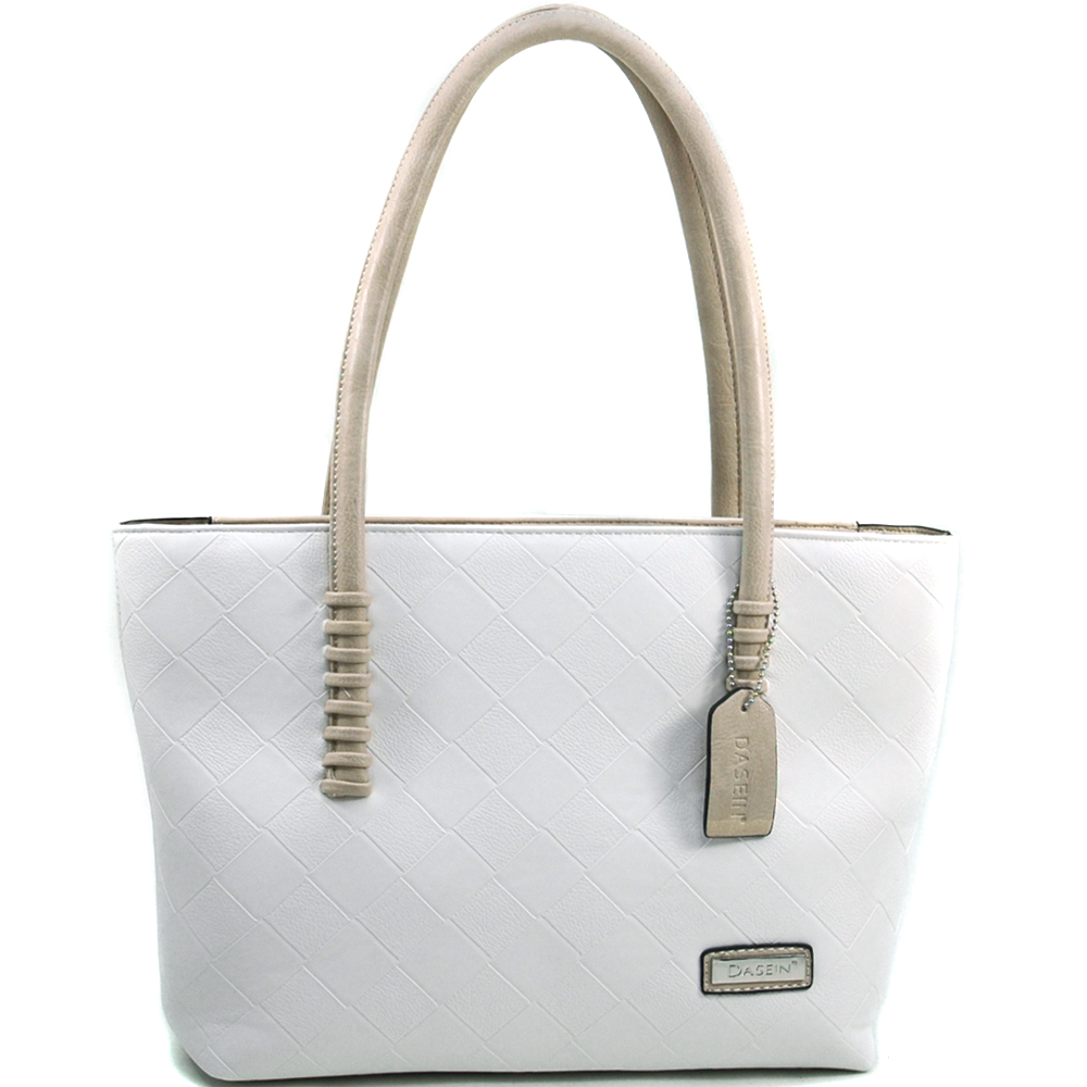 Dasein Wesen® Stitch End Handle Tote