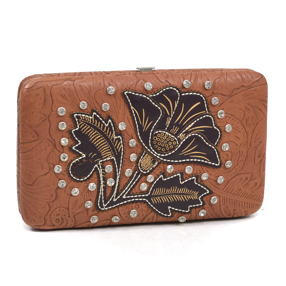 Montana West® Salmonberry Flower Frame Wallet