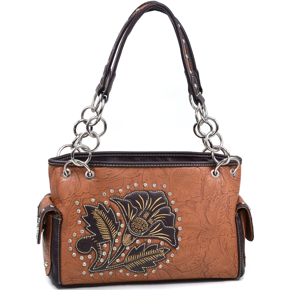Montana West® Salmonberry Flower Shoulder Bag