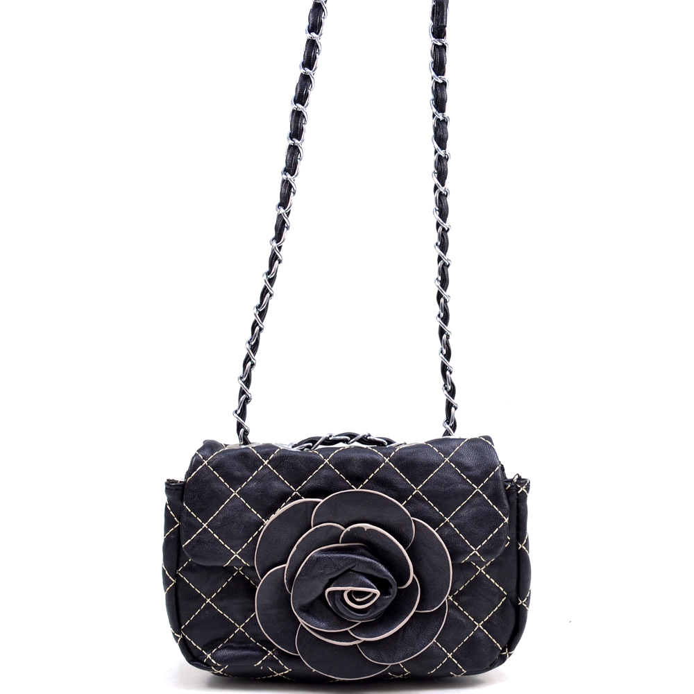 U Style® Quilted Flower Crossbody