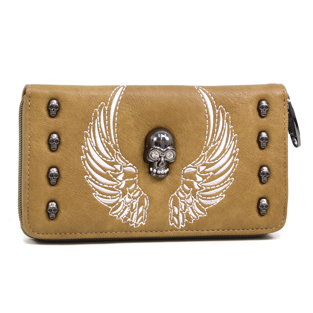 U Style® Eagle of Delight Skull Studded Wallet