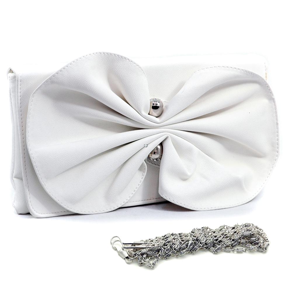 Large Twisted Bow Tie Evening Bag