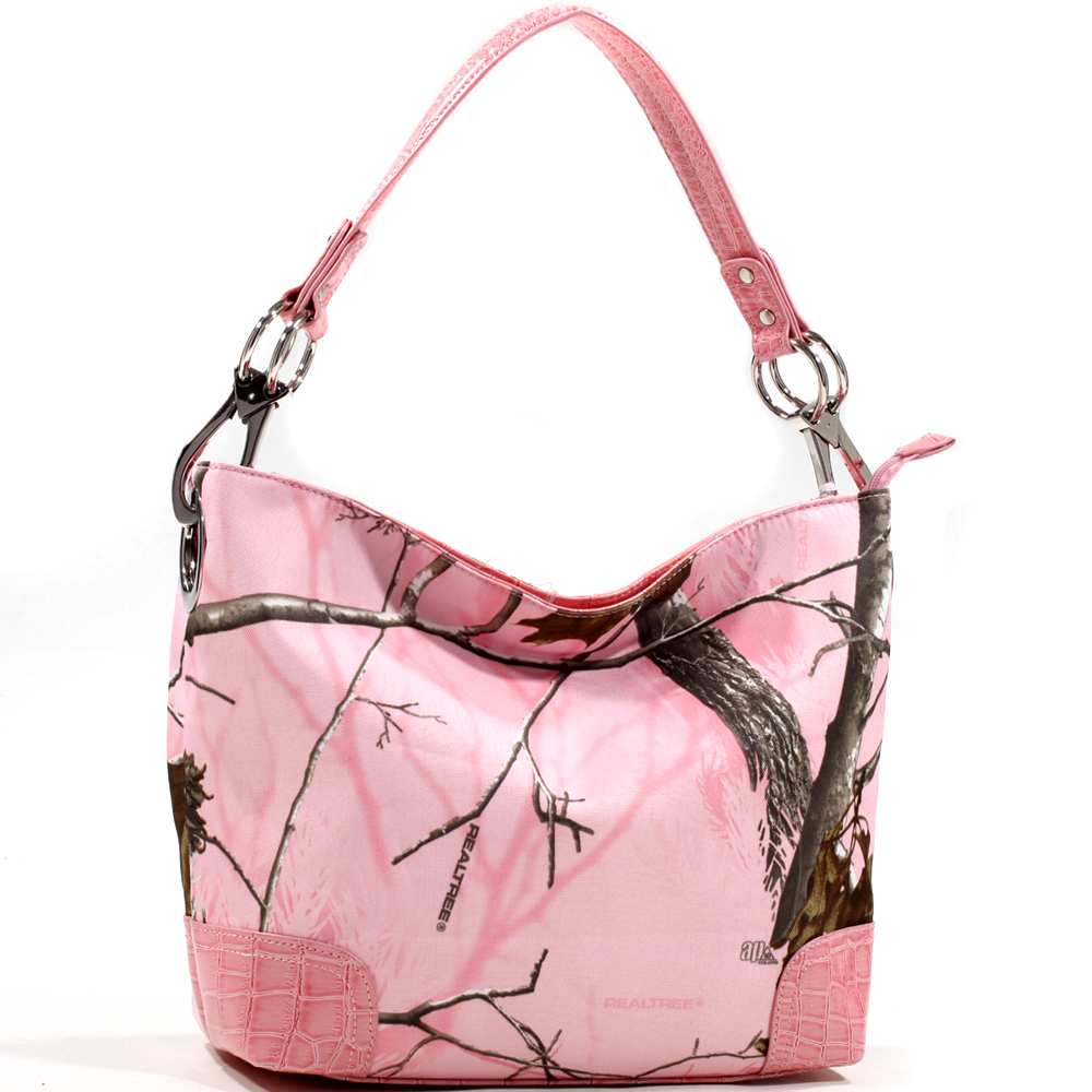 Dasein® Tote Bag in Realtree ® Camouflage w/ Faux CrocoTrim
