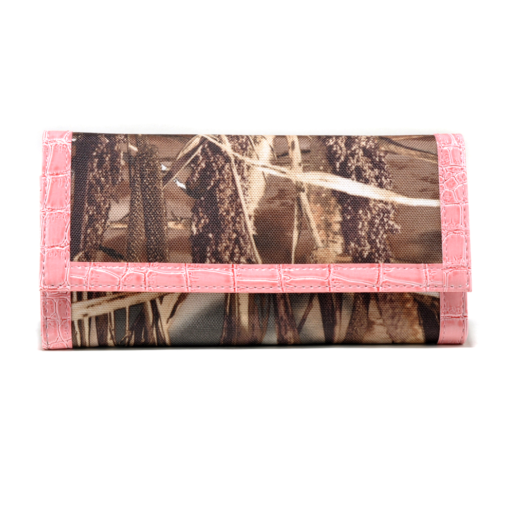 Realtree® Max-4 Camo Croco Trim Folded Wallet