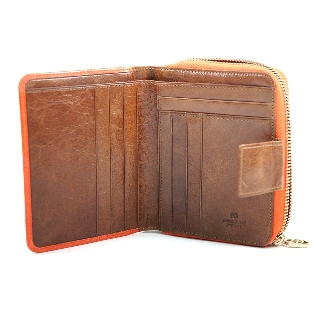 Anais Gvani® Bronx Park Genuine Leather Zip Around Wallet