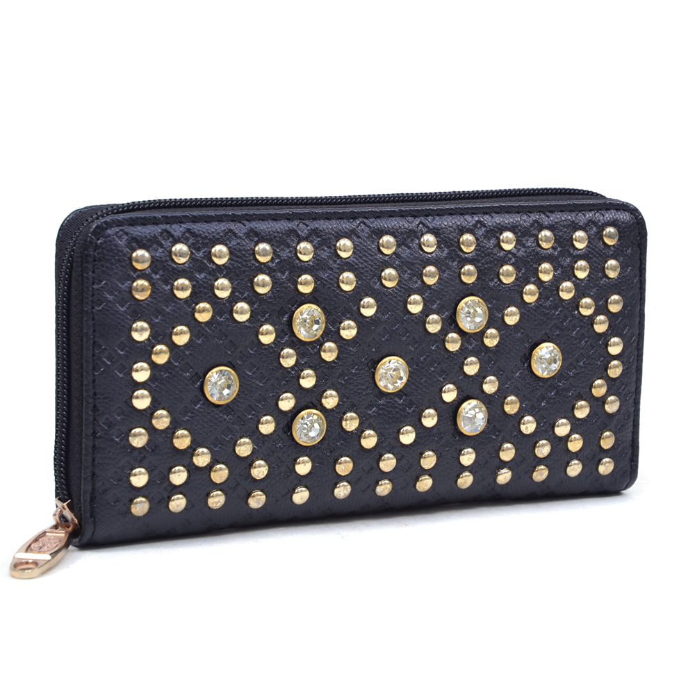 U Style® Gold Studded Quilted Design Wallet