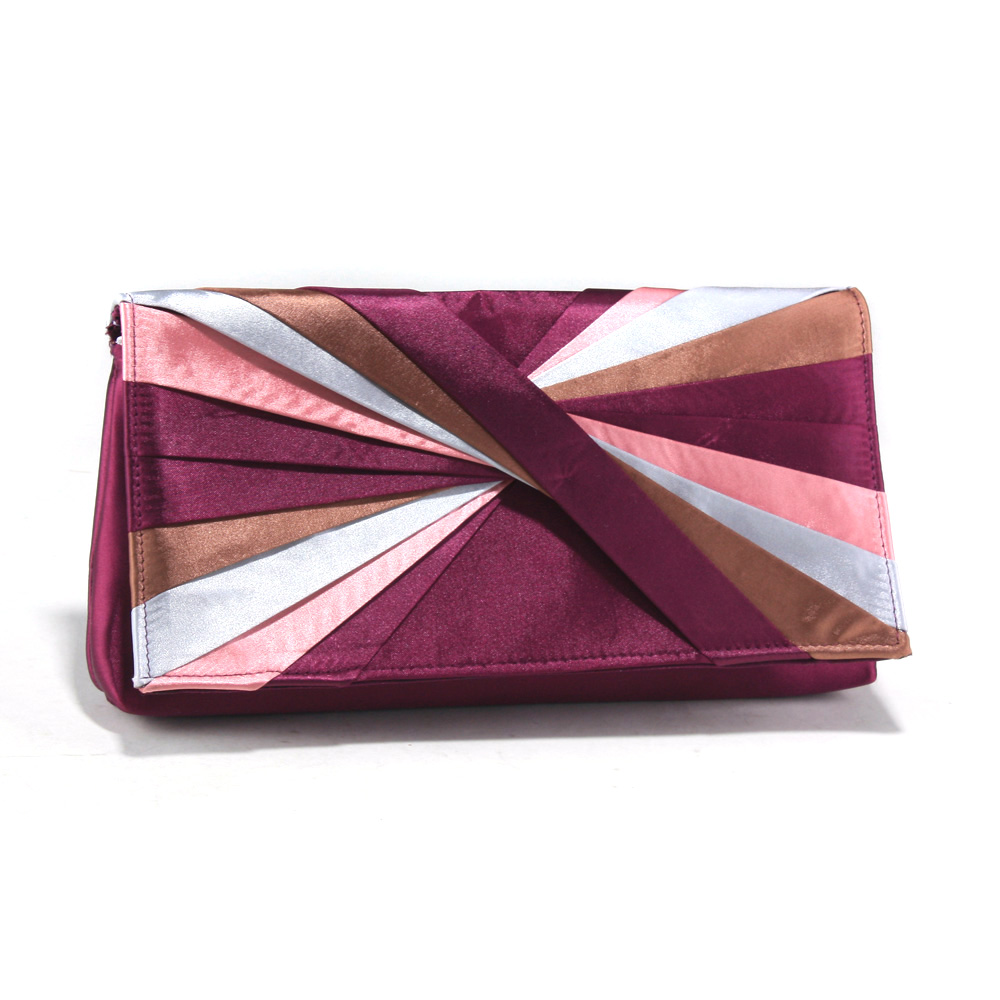 Twisted Color Wheel Evening Bag