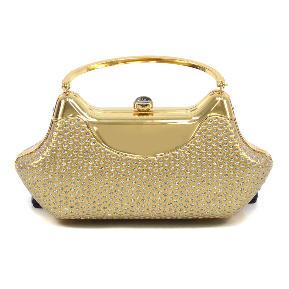 Boat Body Sequin & Rhinestone Clutch