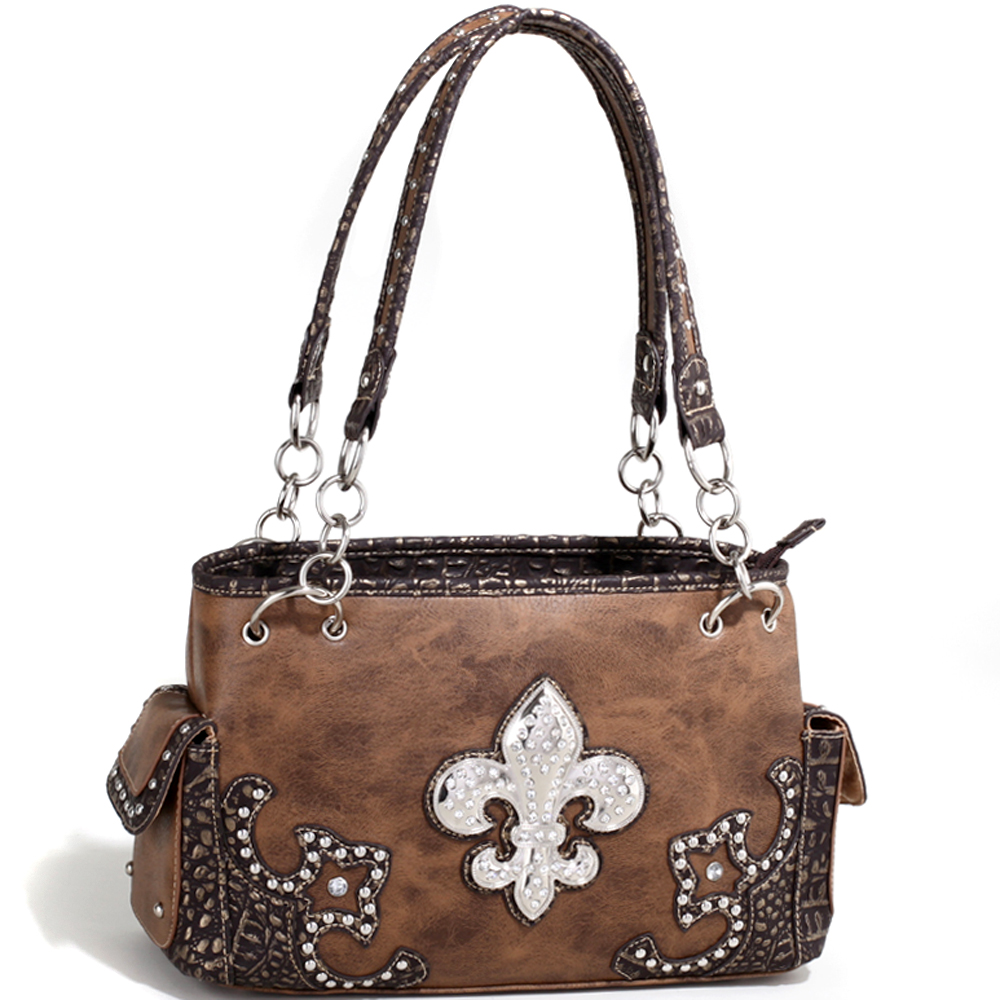 Rose of the Wild Bunch Fleur-de-Lis Shoulder Bag