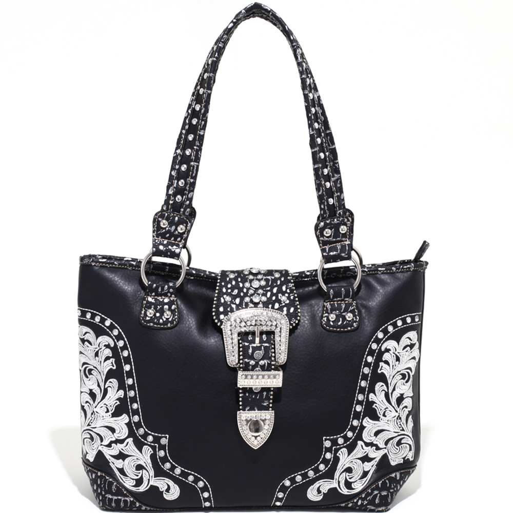 Rose of the Wild Bunch Rhinestone Buckle Tote