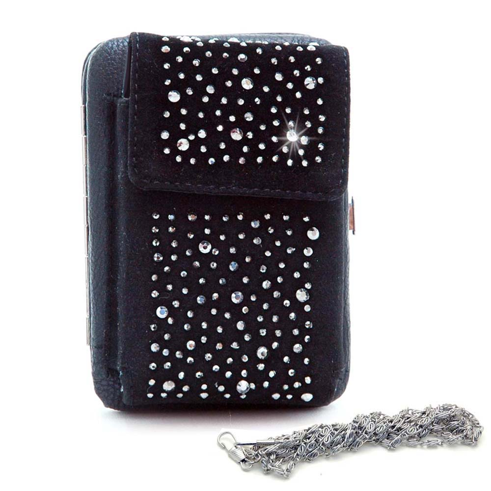 Cellphone Holder with Frame Wallet - Black