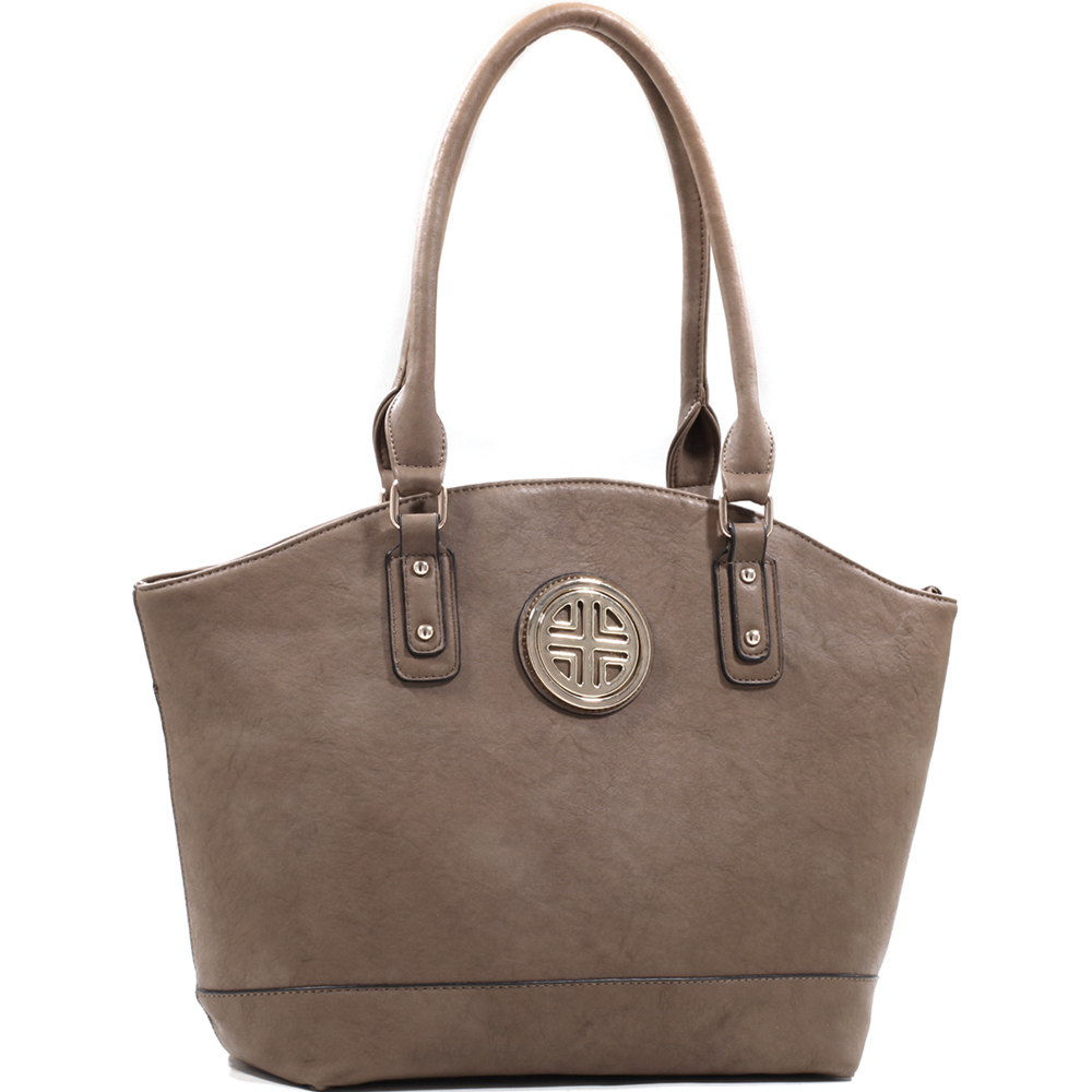 Women's Elegant Fashion Tote with Gold Motif and Studs