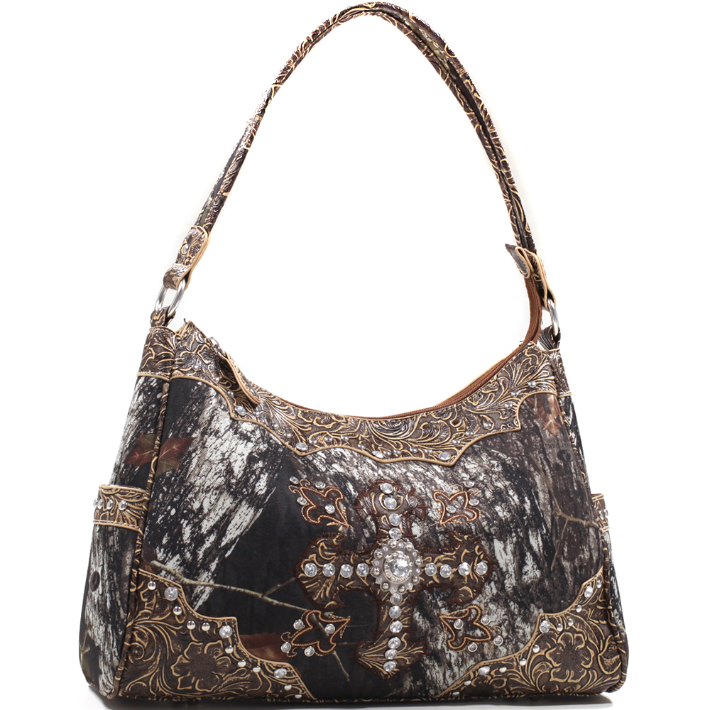 Mossy Oak® Arctic Camo Greek Cross Shoulder Bag