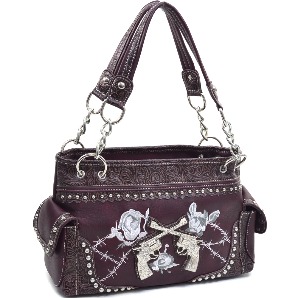 Western Twin Shootin'Irons Shoulder Bag