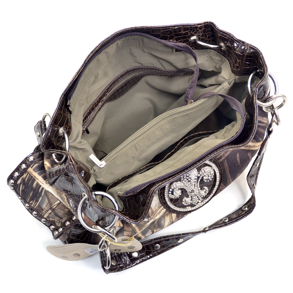 Realtree® Max-4 Camo Fleur-de-Lis Shoulder Bag