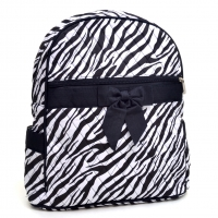 Rosen Blue® Zebra Printed Quilted Backpack - Black