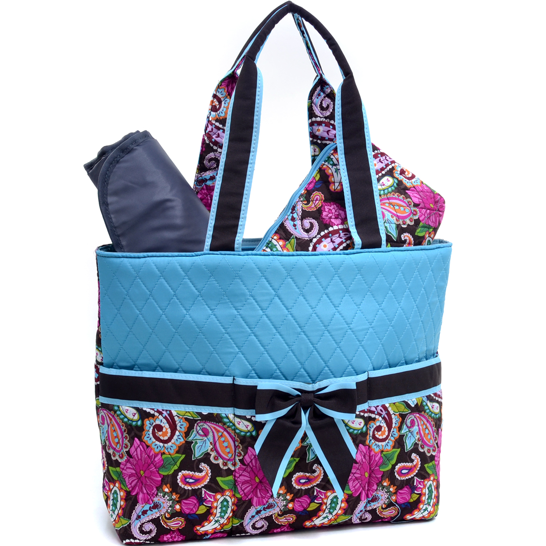 Rosen Blue® Morning Glory 3Piece Diaper Tote