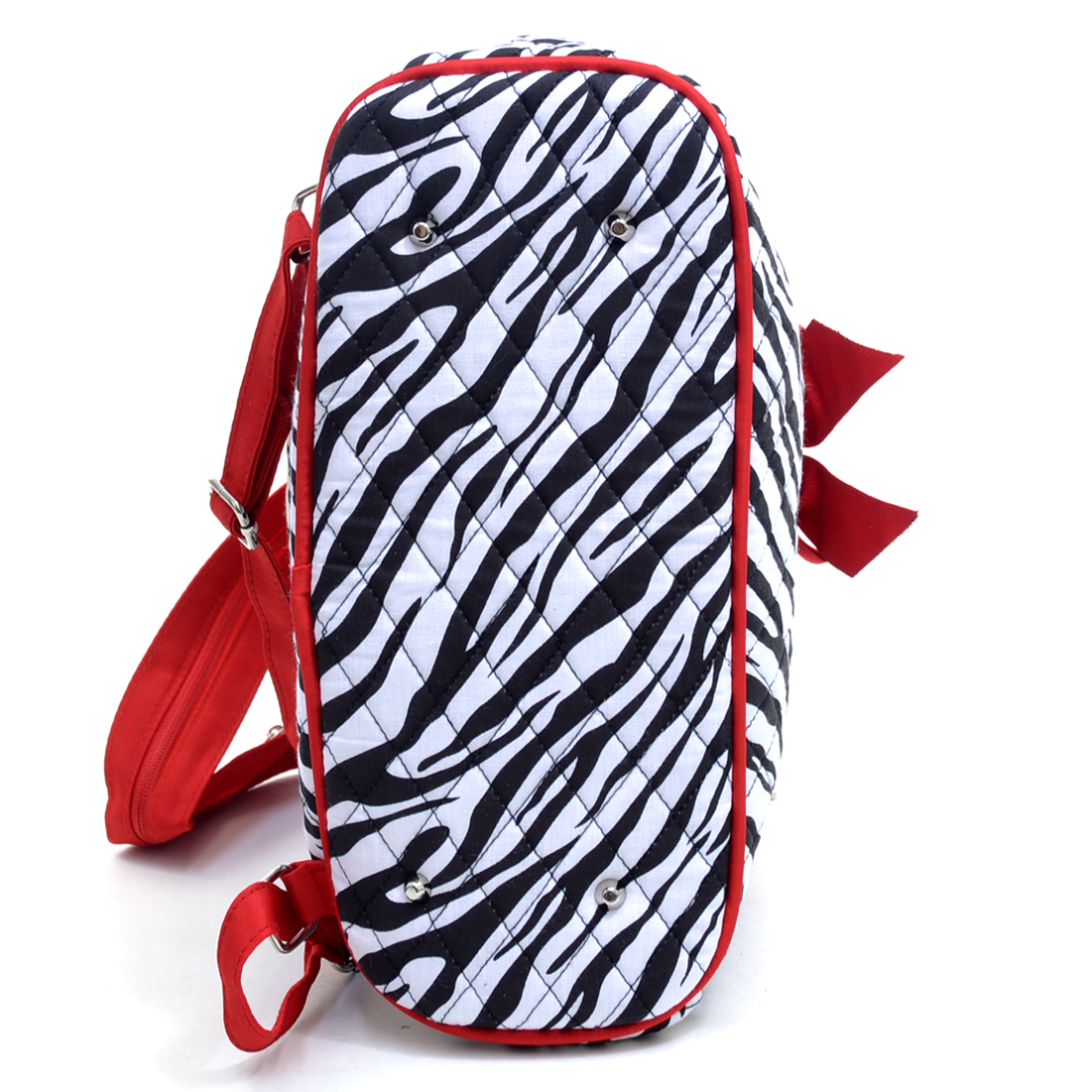Rosen Blue® Zebra Printed Quilted Backpack