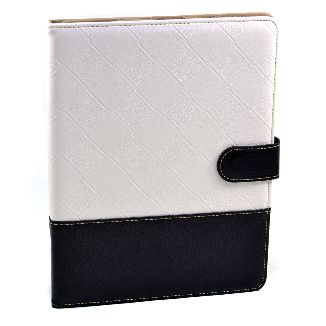 Dasein® Faux Weave Leather and Snakeskin Trim iPad Case New Smart Stand Cover for iPad 2 3 4