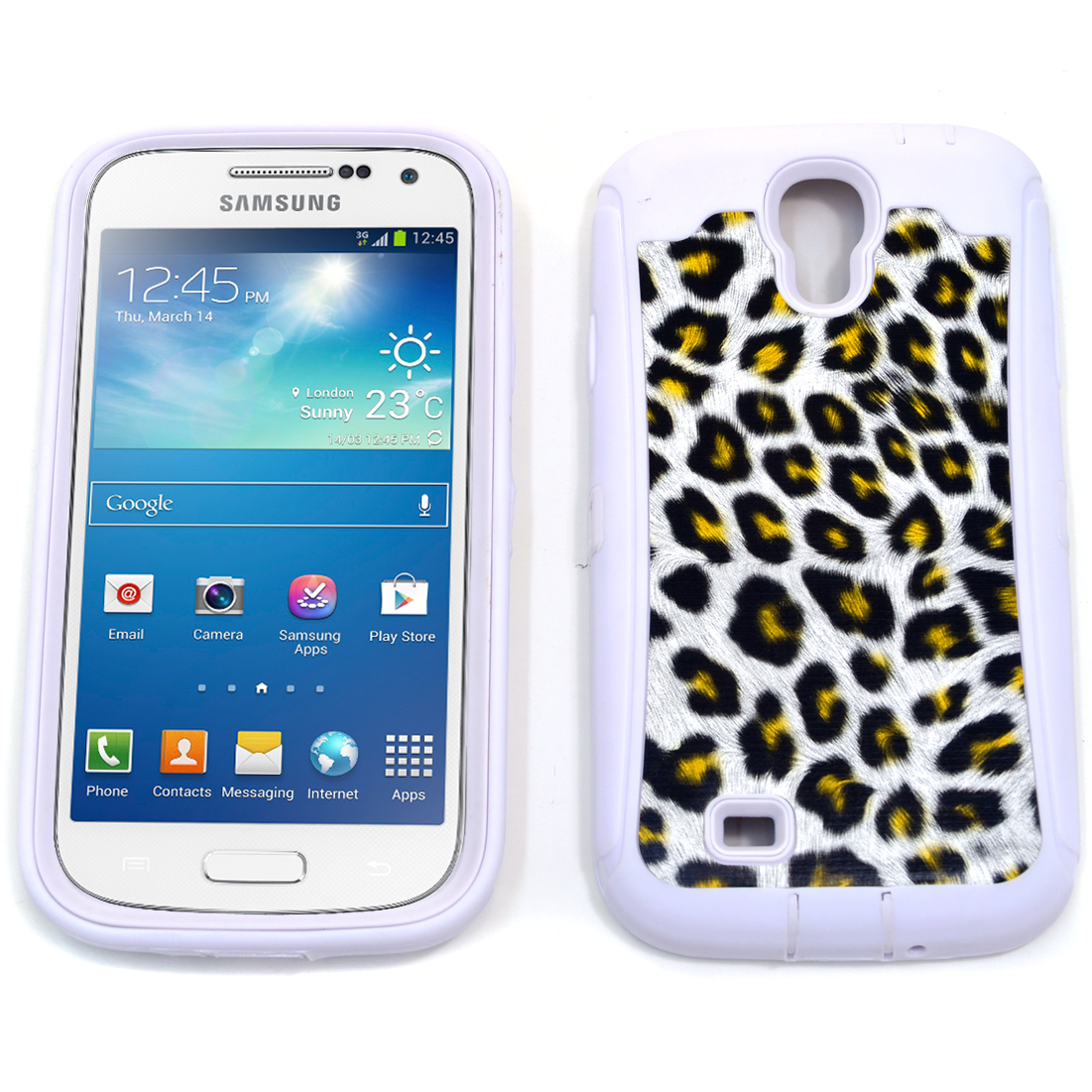 Dasein® White Leopard Print Case for Samsung Galaxy S4