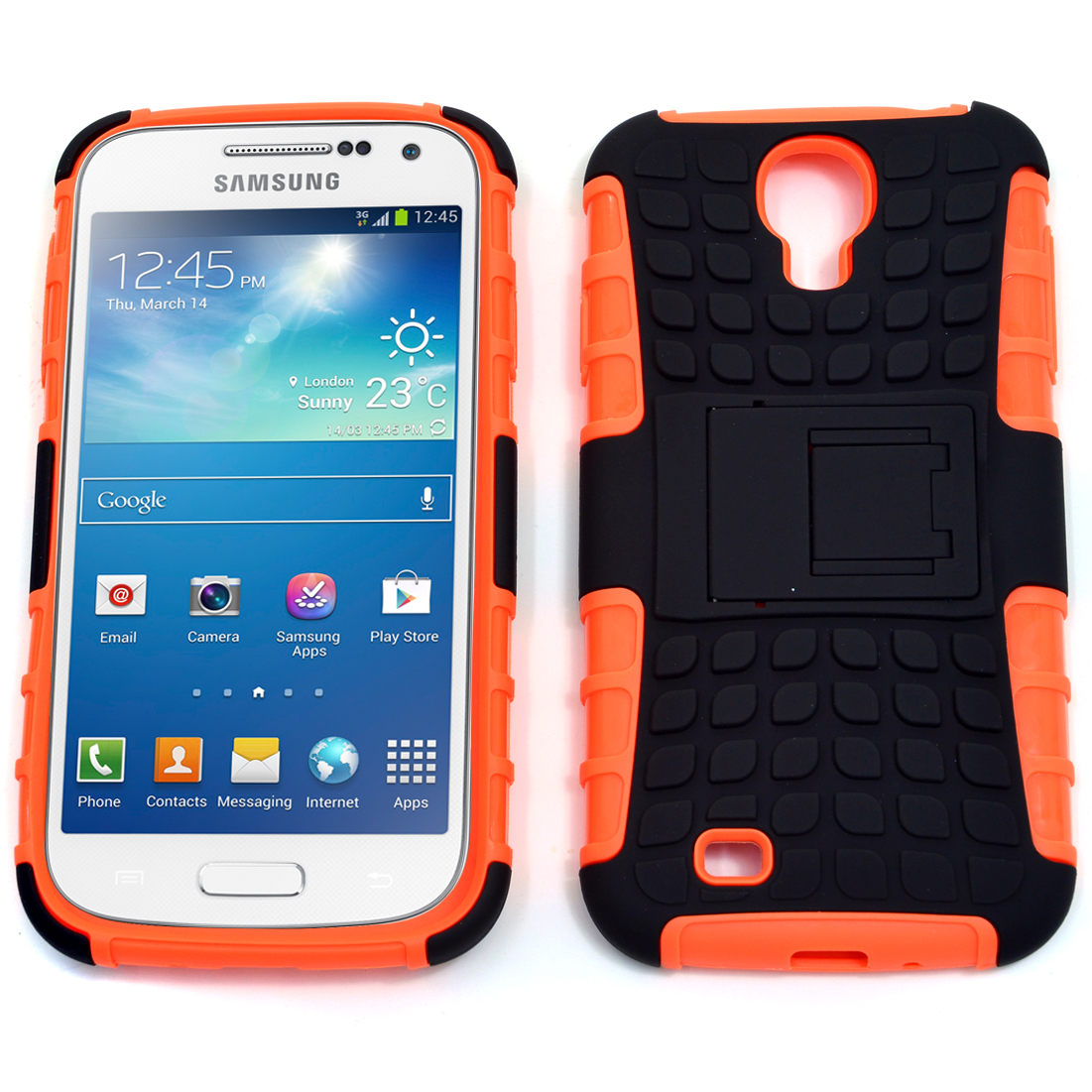 Dasein® Ultra Grip Cell Phone Case With Stand for Samsung Galaxy S4