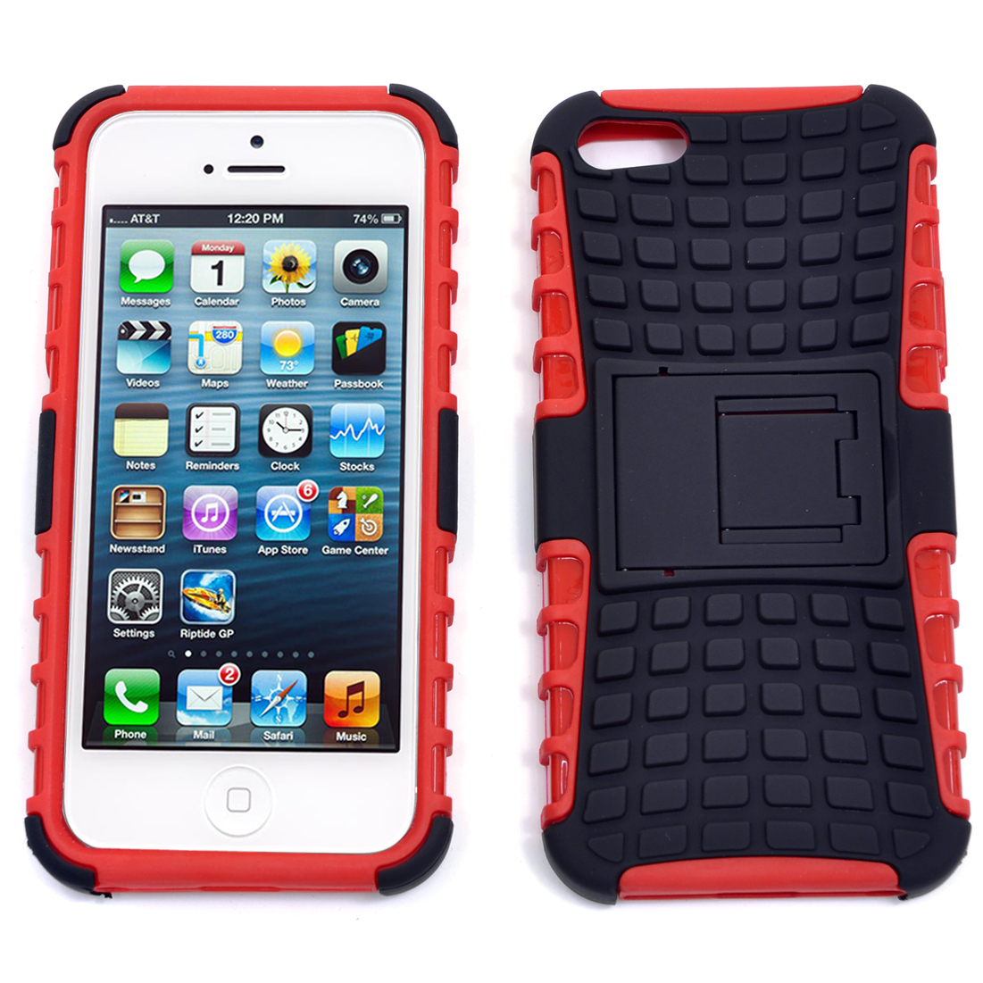 Dasein® Ultra Grip Cell Phone Case With Stand for iPhone 5