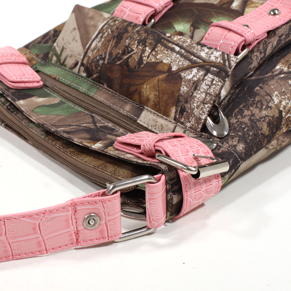 Realtree® AP Pink Camo Croco Trim Crossbody
