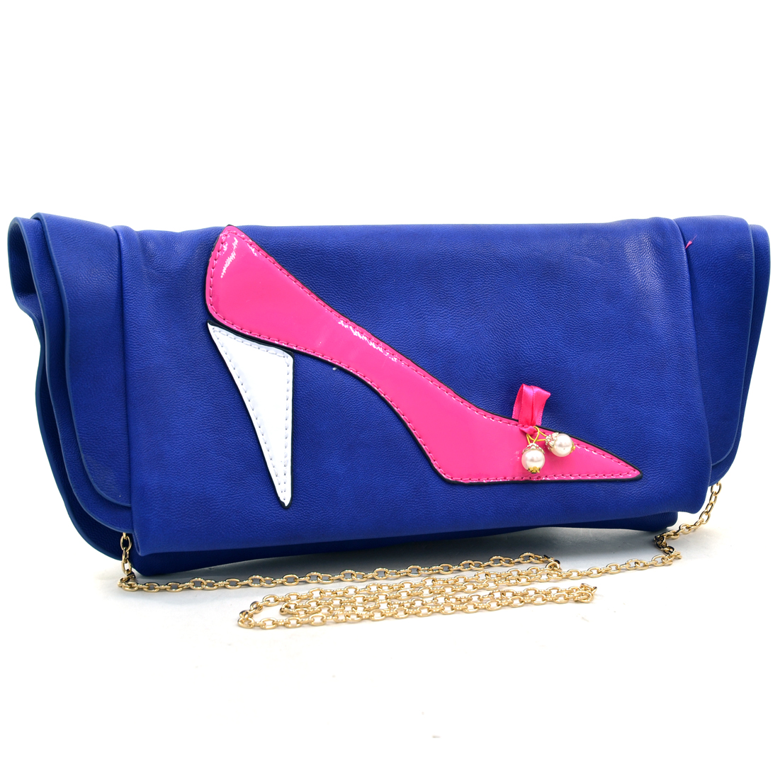 "Dasein® ""In My Shoes"" High Heel Foldover Clutch"