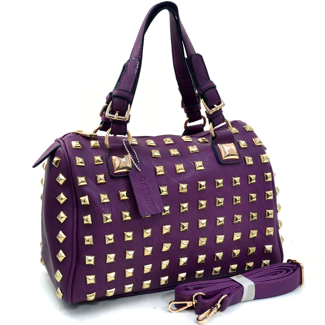 Dasein® Studded Barrel Satchel
