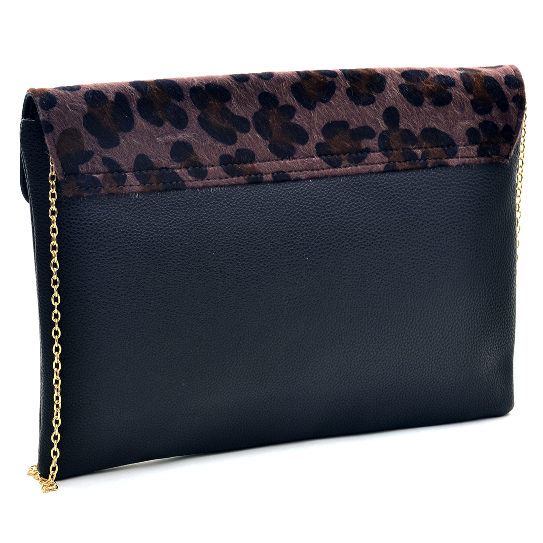 Dasein® Faux Fur Envelope Clutch With Gold Studs
