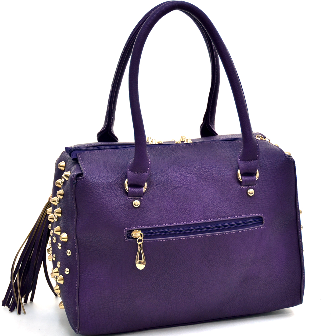 Dasein® Multi-Studded Satchel With Fringe Tassels