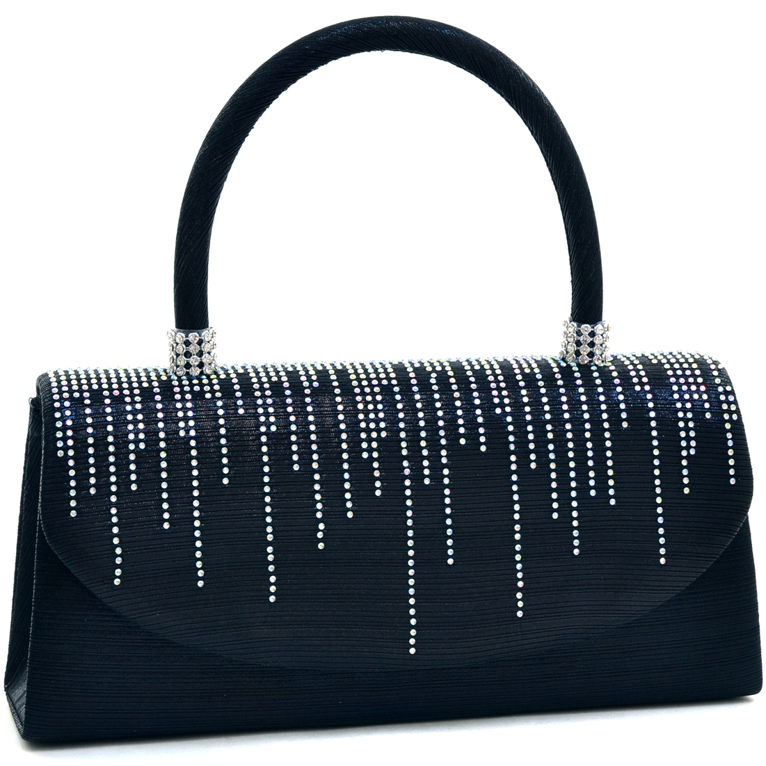 Dasein® Rhinestone Sparkle Evening Clutch With Handle