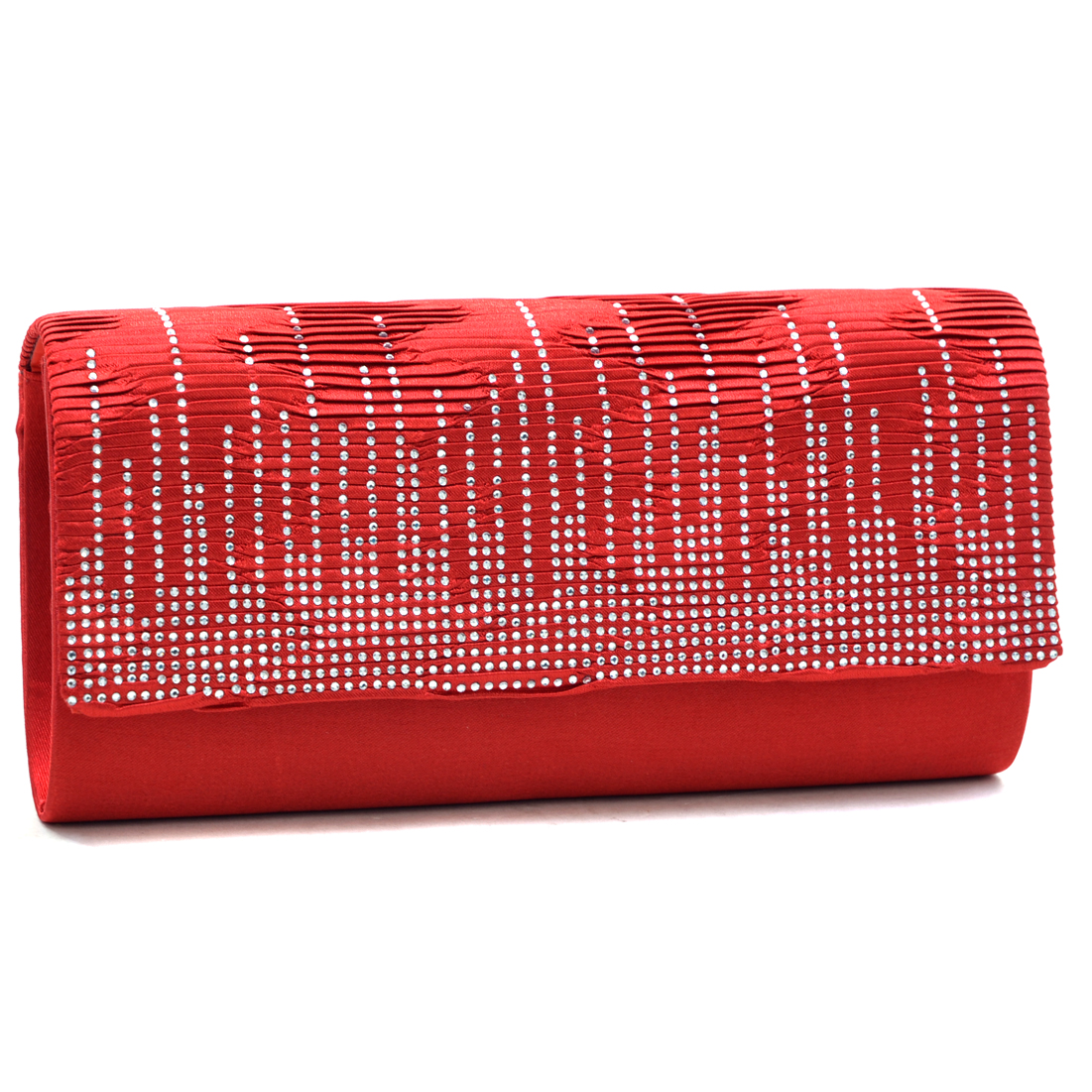 Dasein® Pleated Rhinestone Sparkle Clutch